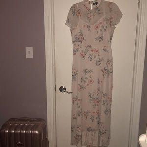 Maxi high neck floral dress